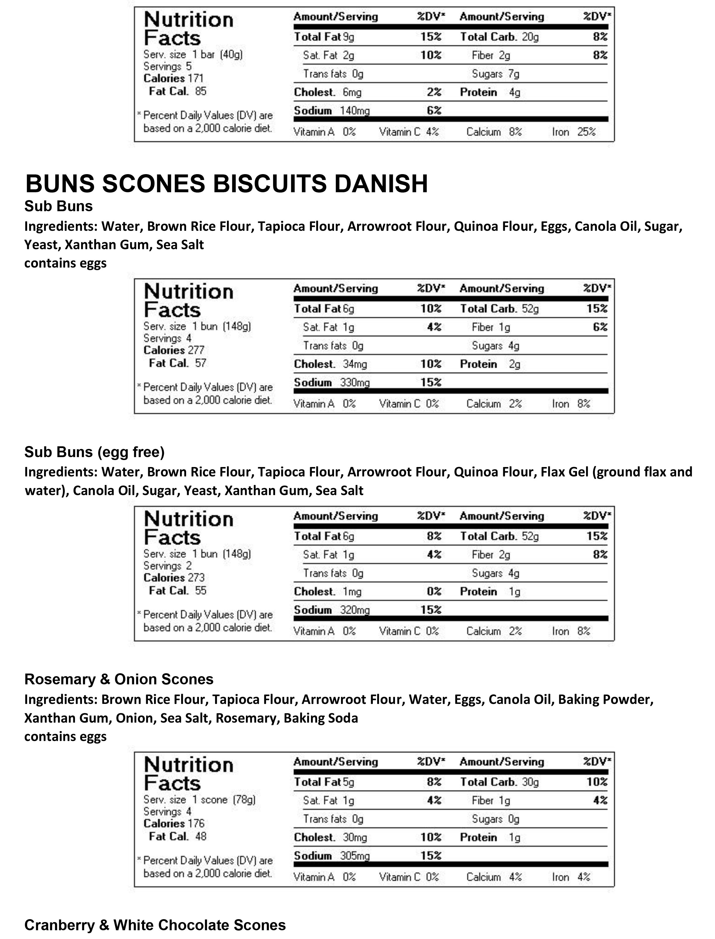 Buns Scones Biscuits Danish